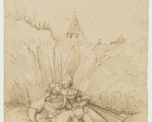 Возлюбленные среди сена — Альбрехт Альтдорфер
