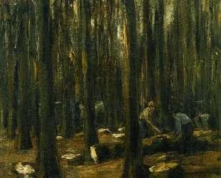 Lumberjack in the forest — Макс Либерман