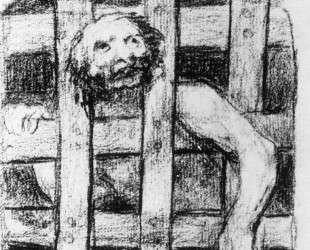 Lunatic behind Bars — Франсиско де Гойя