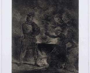 Макбет и ведьмы — Эжен Делакруа