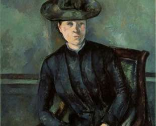 Woman in a Green Hat (Madame Cezanne) — Поль Сезанн