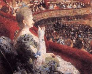 Madame Edmond Picard in Her Box at Theatre de la Monnaie — Тео ван Рейссельберге