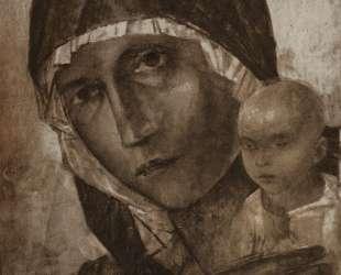 Мадонна с младенцем — Кузьма Петров-Водкин