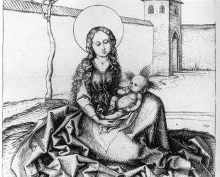Madonna and Child in the Couryard — Мартин Шонгауэр