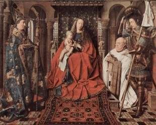 Мадонна с младенцем и каноник Йорис ван дер Пале — Ян ван Эйк