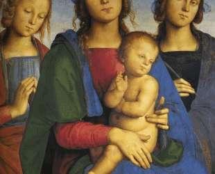 Мадонна и младенец со Св. Екатериной и Св. Розой — Пьетро Перуджино
