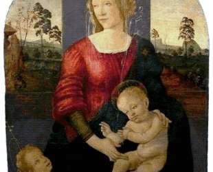 Мадонна с младенцем и Иоанн Креститель — Сандро Ботичелли
