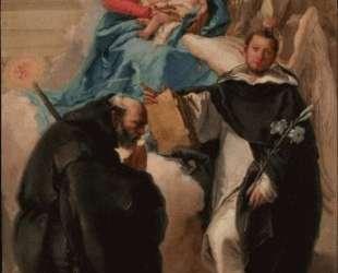 Madonna and Child with Three Saints — Джованни Доменико Тьеполо