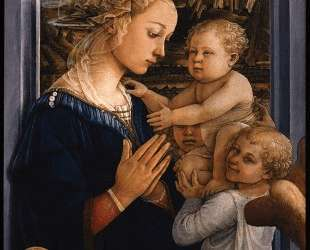Madonna and Child with two Angels — Филиппо Липпи