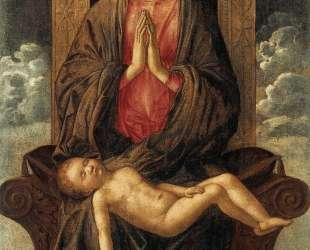 Мадонна натроне со спящим младенцем — Джованни Беллини
