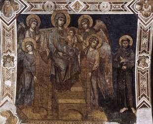 Богородица с младенцем в величии, с четырьмя ангелами и святым Франциском — Чимабуэ