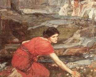 Девушка собирает цветы у ручья — Джон Уильям Уотерхаус
