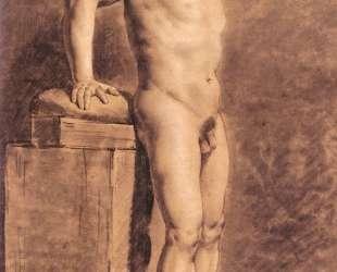 Рисунок мужской фигуры — Эжен Делакруа