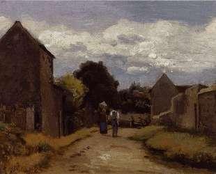 Male and Female Peasants on a Path Crossing the Countryside — Камиль Писсарро