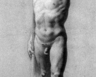 Male Nude Raising his Arm — Пьер Поль Прюдон