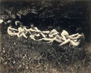 Male Nudes in a Seated Tug of War — Томас Икинс