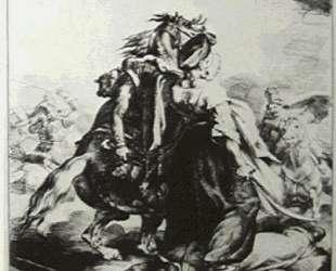 Mameluke defending wounded trumpete — Теодор Жерико