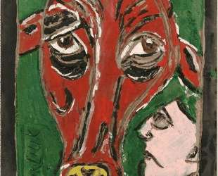Человек и корова — Давид Бурлюк