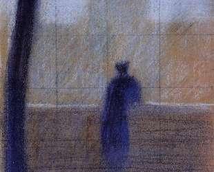 Мужчина, прислонившись к парапету — Жорж Сёра
