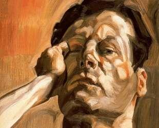 Голова мужчины, автопортрет — Люсьен Фрейд