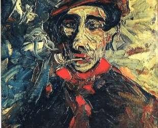 Man Smoking a Pipe — Морис де Вламинк