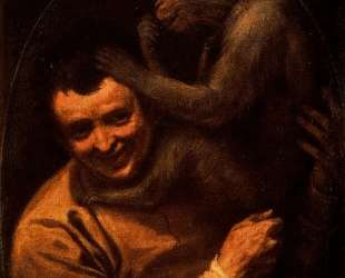 Man with Monkey — Аннибале Карраччи