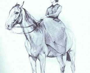 Мария Мамонтова верхом на коне — Валентин Серов