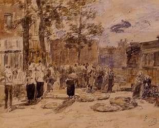 Market Scene — Эжен Буден