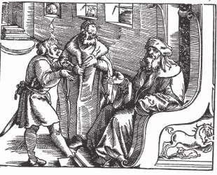 Марквард фон Линдау задает вопросы по Десяти Заповедям и отвечает на них. — Ханс Бальдунг