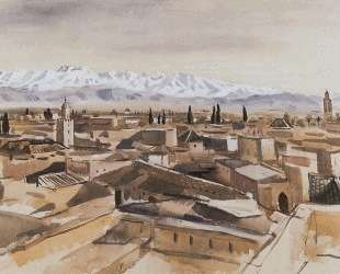 Марракеш. Вид с террасы на горы Атласа — Зинаида Серебрякова