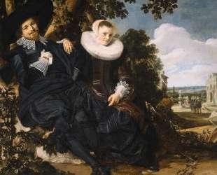 Marriage Portrait of Isaac Massa and Beatrix van der Laen — Франс Халс