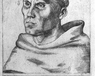 Мартин Лютер как монах — Лукас Кранах Старший