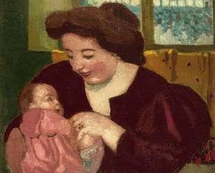 Maternite, Anne Marie et Marthe a la Bague Ovale — Морис Дени