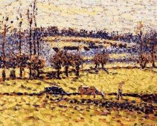 Meadow at Bazincourt — Камиль Писсарро