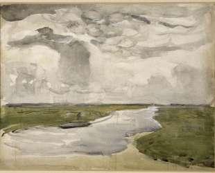 Извилистый пейзаж с рекой — Пит Мондриан