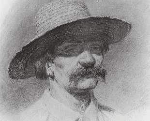 Мужская голова в соломенной шляпе — Архип Куинджи