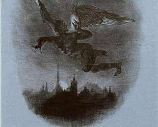 Летящий Мефистофель — Эжен Делакруа