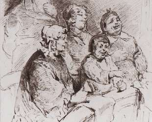 Merchant family in the theater — Виктор Васнецов