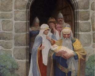 Merlin taking away the infant Arthur — Ньюэлл Конверс Уайет