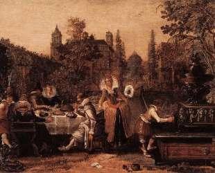 Merry company in the park — Эсайас ван де Вельде