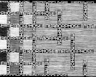Metamorphosis II excerpt 7 — Мауриц Корнелис Эшер