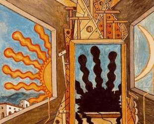 Метафизический интерьер с умирающим солнцем — Джорджо де Кирико