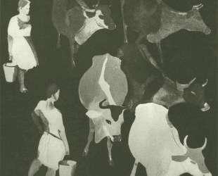 Доярки. Обложка журнала «Даешь» (1929. № 5) — Александр Дейнека