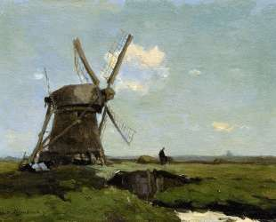 Mill in landscape — Иохан Хендрик Вейсенбрух