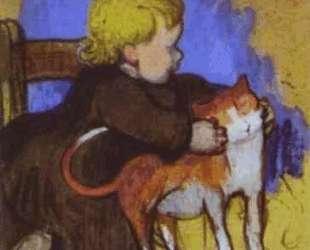 Мими и ее кот — Поль Гоген
