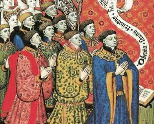 Miniature of the Earl of Westmorland with His Twelve Children — Братья Лимбург
