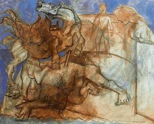 Minotaur is wounded, horse and personages — Пабло Пикассо