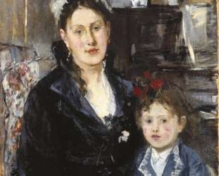 Mme Boursier and Her Daughter — Берта Моризо