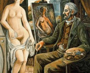 Model and painter with easel — Рафаэль Забалета