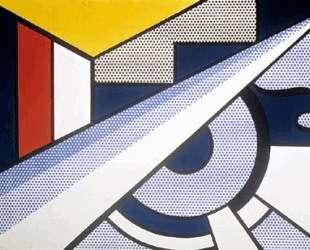 Современная картина с клином — Рой Лихтенштейн